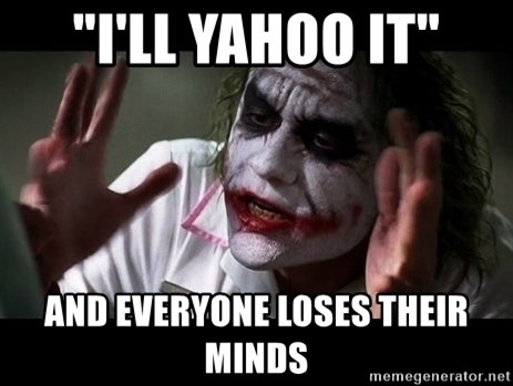"""joker mind loss - """"i'll yahoo it"""" and everyone loses their minds"""