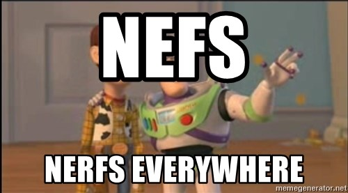 X, X Everywhere  - Nefs Nerfs everywhere