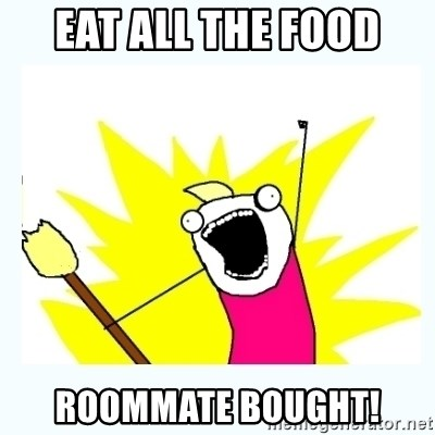 All the things - EAT all the food roommate bought!