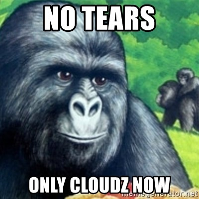 Jimmies Rustled - no tears only cloudz now