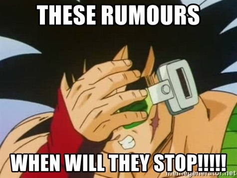 Facepalm Goku - ThESE RUMOURS WHEN WILL THEY STOP!!!!!
