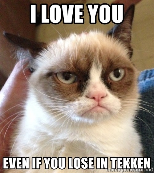 Mr angry cat - i love you even if you lose in Tekken