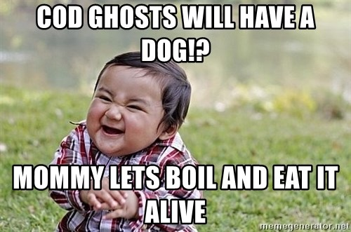 Evil Asian Baby - COD GHOSTS WILL HAVE A DOG!? MOMMY LETS BOIL AND EAT IT ALIVE