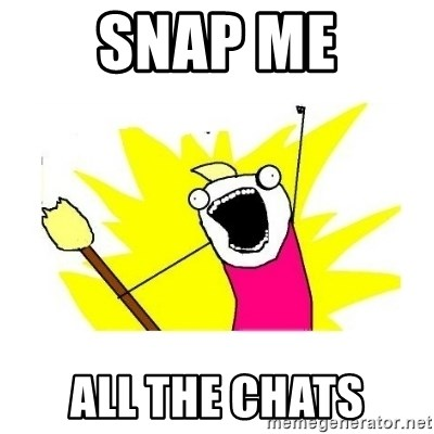 clean all the things blank template - Snap Me All the chats
