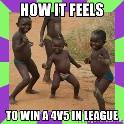 african kids dancing - How it feels  To win a 4v5 in league
