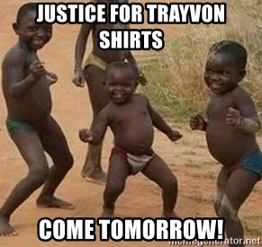 african children dancing - Justice for Trayvon shirts come tomorrow!