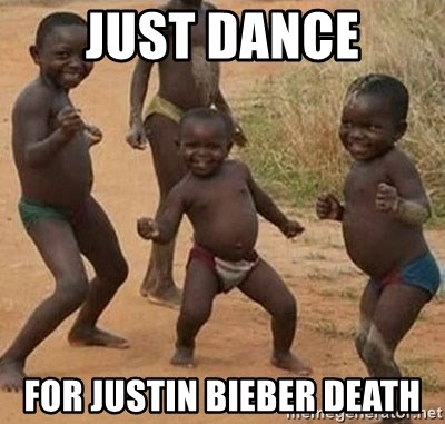 Dancing African Kid - just dance for justin bieber death
