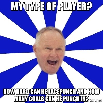 Crafty Randy - my type of player? how hard can he facepunch and how many goals can he punch in?