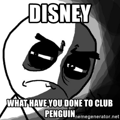 You, what have you done? (Draw) - disney what have you done to club penguin