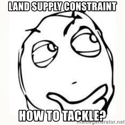 Derp thinking - land supply constraint how to tackle?