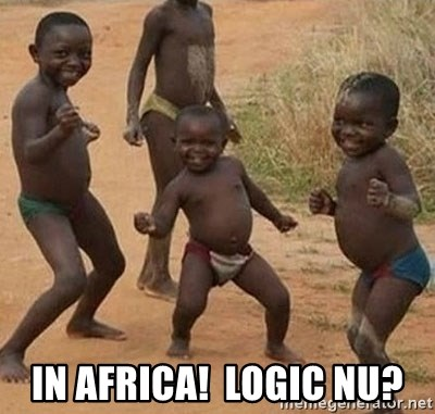 Dancing african boy -  In Africa!  Logic nu?