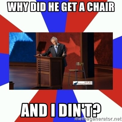 Invisible Obama - Why did he get a chair and I din't?