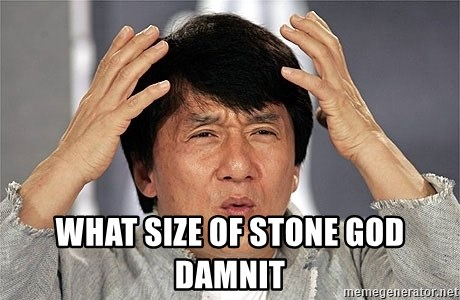 Jackie Chan -  What size of stone god damnit
