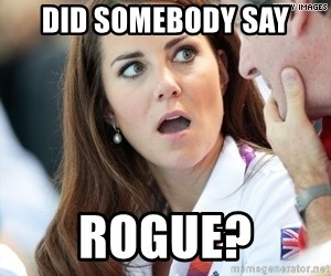 Shocked Middleton - Did somebody say rogue?