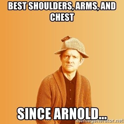 TIPICAL ABSURD - BEST SHOULDERS, ARMS, AND CHEST  SINCE ARNOLD...