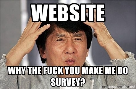 Jackie Chan - website why the fuck you make me do survey?