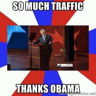 Invisible Obama - so much traffic thanks obama