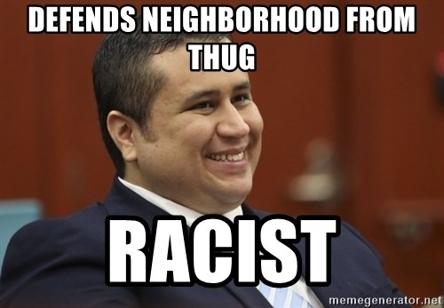 George Zimmerman troll - defends neighborhood from thug racist