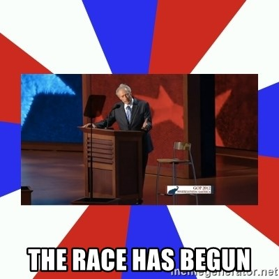 Invisible Obama -  THE RACE HAS BEGUN