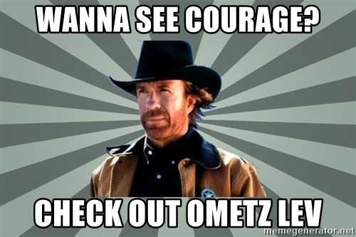 chak norris - Wanna See Courage? CHECK OUT OMETZ LEV