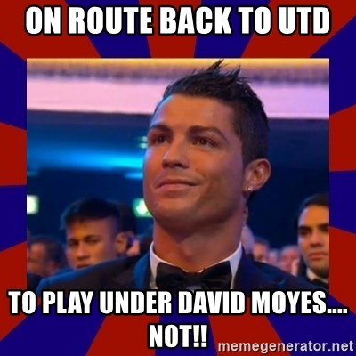 CR177 - ON ROUTE BACK TO UTD  TO PLAY UNDER DAVID MOYES.... NOT!!