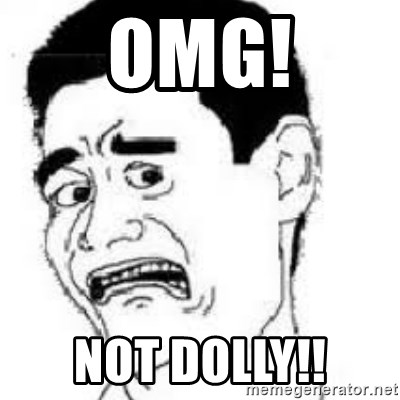 scared yaoming - omg! not dolly!!
