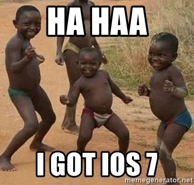 Dancing african boy - Ha haa I got iOS 7