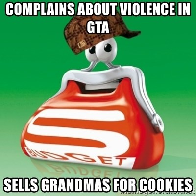 Scumbag Spar - complains about violence in GTA sells grandmas for cookies