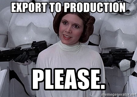 princess leia - Export to Production Please.