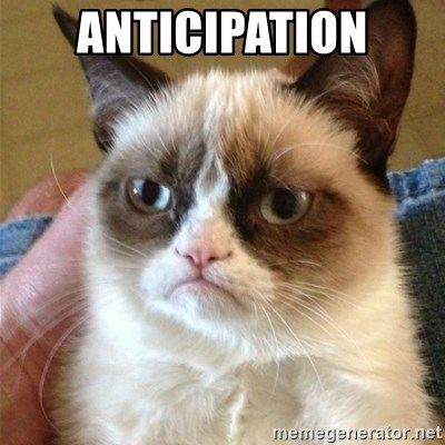 Grumpy Cat  - anticipation
