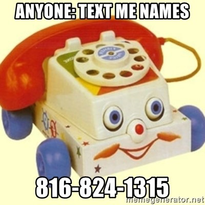 Sinister Phone - Anyone: text me names 816-824-1315