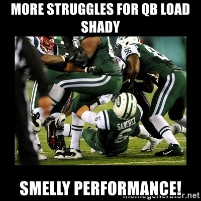 Mark Sanchez Butt Fumble - More struggles for QB load shady Smelly performance!