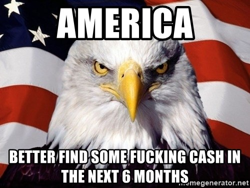 American Pride Eagle - america better find some fucking cash in the next 6 months