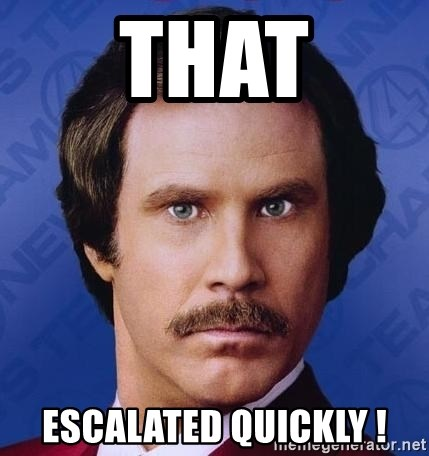 Ron Burgundy - That Escalated quickly !