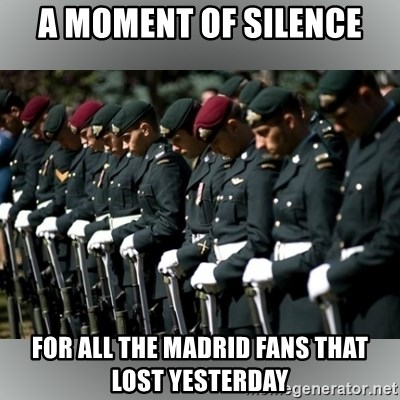 Moment Of Silence - a moment of silence for all the madrid fans that lost yesterday