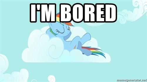 Rainbow Dash Cloud - i'm bored