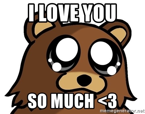 Pedobear Triste - i love you so much <3