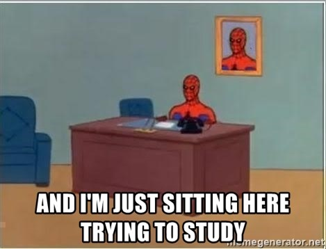 Spiderman Desk -  And I'm just sitting here trying to study