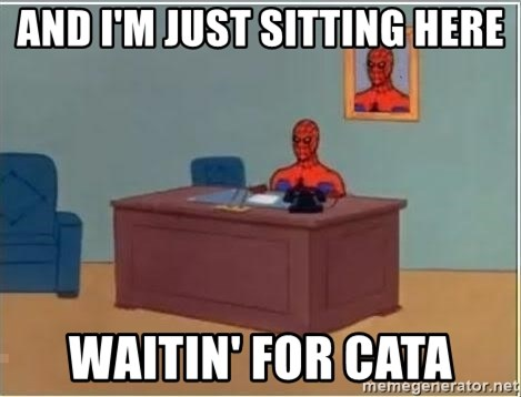 Spiderman Desk - and I'm just sitting here waitin' for Cata