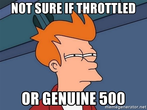 Futurama Fry - Not sure if throttled or genuine 500