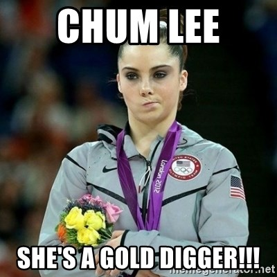 McKayla Maroney Not Impressed - Chum Lee  She's a Gold Digger!!!