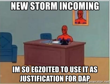 Spiderman Desk - New storm incoming im so egzoited to use it as justification for DAP
