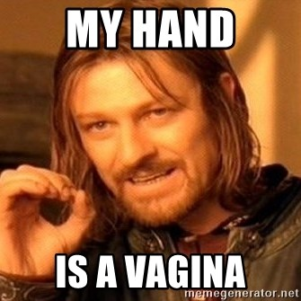 One Does Not Simply - my hand  is a vagina