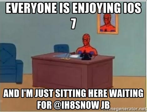 Spiderman Desk - Everyone is enjoying ios 7 And i'm just sitting here waiting for @ih8sn0w jb