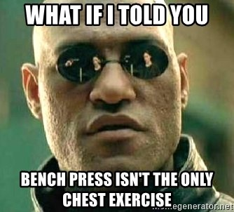 What if I told you / Matrix Morpheus - What if i told you bench press isn't the only chest exercise