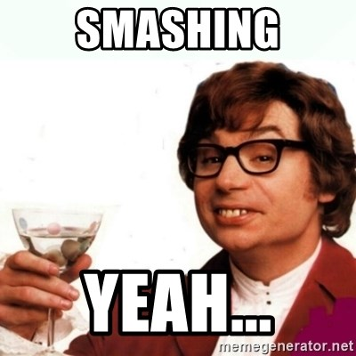 Austin Powers Drink - smashing yeah...