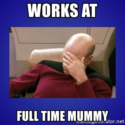 Picard facepalm  - Works at full time mummy