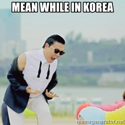 Gangnam Style - mean while in korea