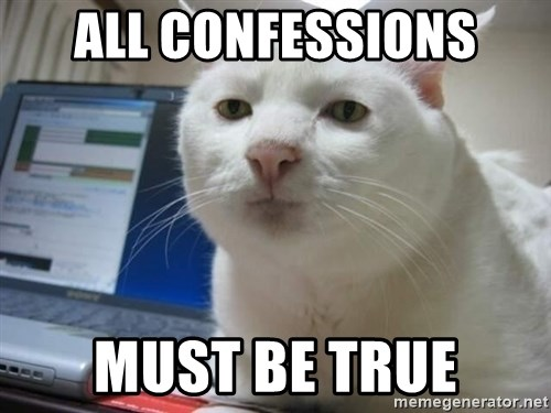 Serious Cat - all confessions must be true
