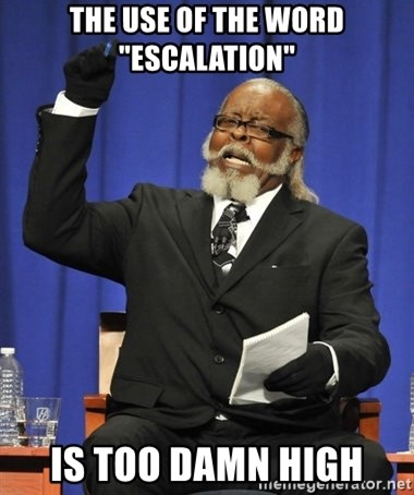 "Rent Is Too Damn High - The use of the word ""Escalation"" is too damn high"